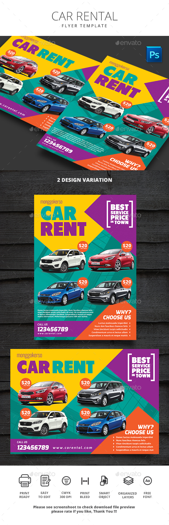 Car Rental - Commerce Flyers