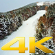 Snow Boarders on Mountain in Evening During Light Snow - VideoHive Item for Sale