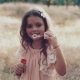 Cute Little Girl Is Blowing Soap Bubbles - VideoHive Item for Sale
