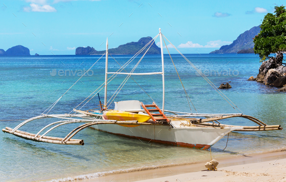 Boat in Philippines - Stock Photo - Images