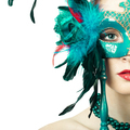 Beauty model woman wearing venetian masquerade carnival mask - PhotoDune Item for Sale