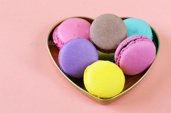 Traditional French Macaroons - Stock Photo - Images