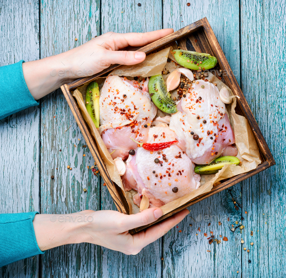 Raw chicken meat - Stock Photo - Images