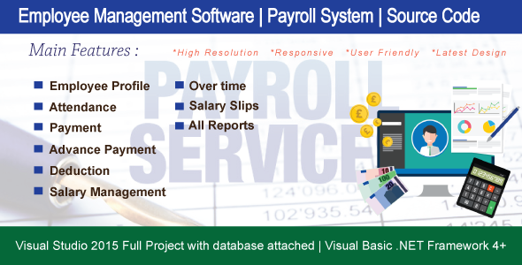 Employee Management Software ( Payroll System | Attendance | All Report ) Full HRM - CodeCanyon Item for Sale