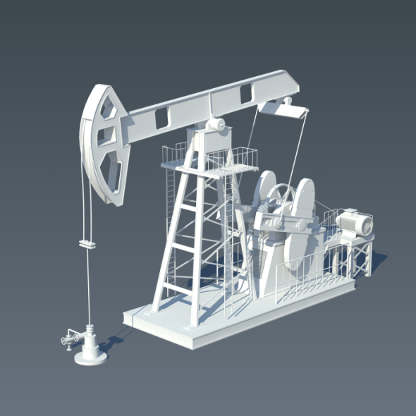 Animated Pump Jack (Oil Pump) - 3DOcean Item for Sale