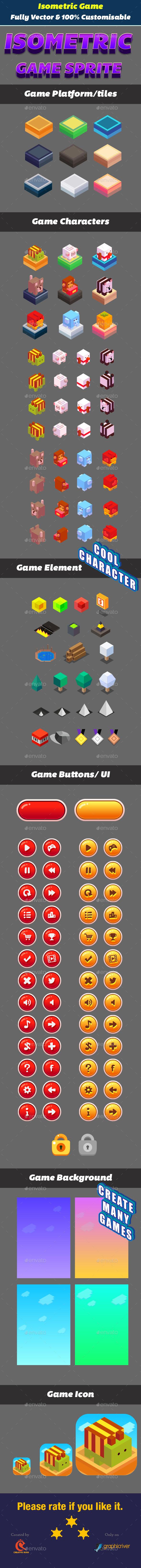 Isometric Game Animal Kit - Game Kits Game Assets