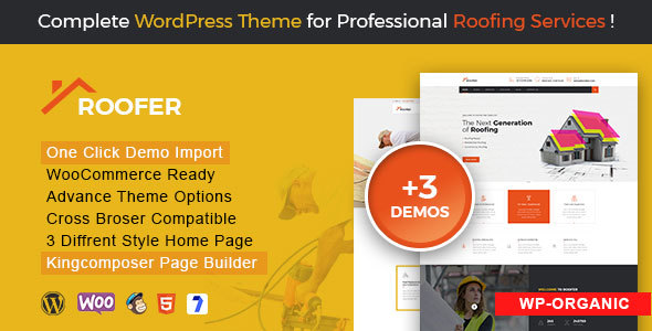 FixRoof - Roofing Service and Maintenance Repairing WordPress Theme