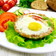 Tartlet meat with egg on light board - PhotoDune Item for Sale