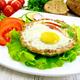 Tartlet meat with egg on light board - PhotoDune Item for Sale