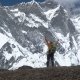 Man with Backpack Climbs in the Himalayas - VideoHive Item for Sale