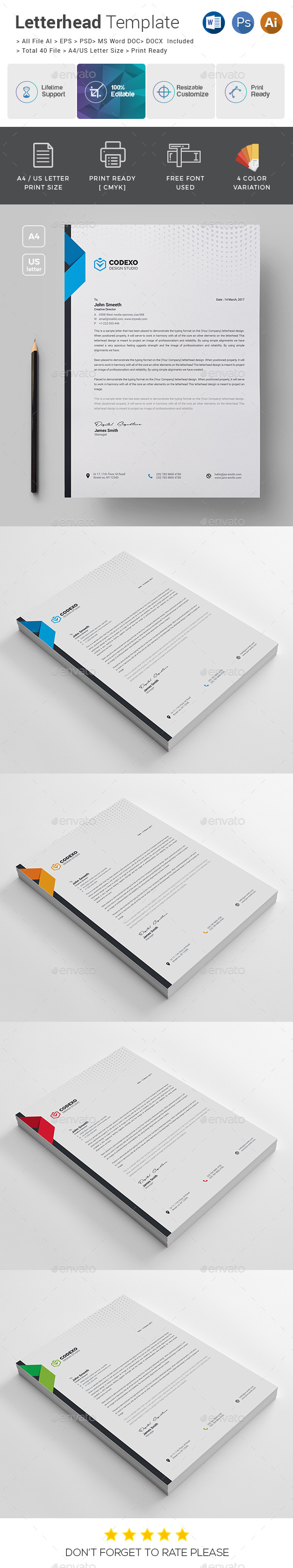 Letterhead graphics designs templates from graphicriver spiritdancerdesigns Choice Image