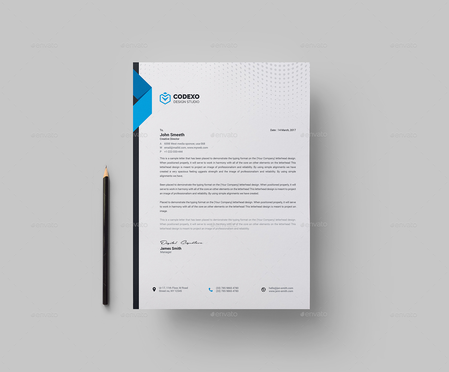 Corporate Letterhead Template By Generousart