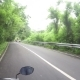 Riding by Beautiful Asian Green Nature Road by Motorbike - VideoHive Item for Sale