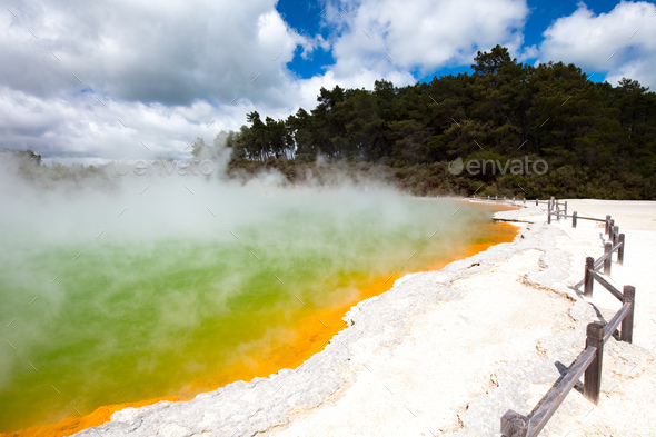 Wai-O-Tapu Geological feature - Stock Photo - Images