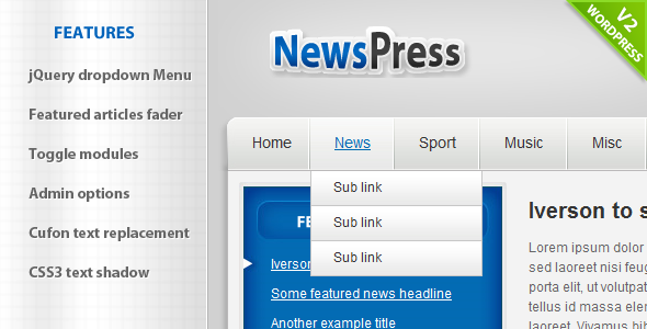 NewsPress - Wordpress - News / Editorial Blog / Magazine