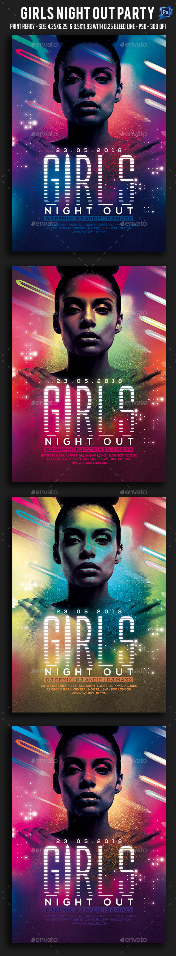 Girls Night Out Party Flyer - Clubs & Parties Events
