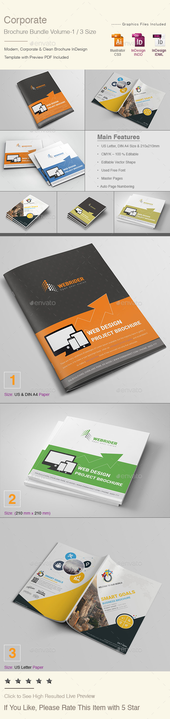 Corporate Brochure Bundle | Volume - 1 - Corporate Brochures