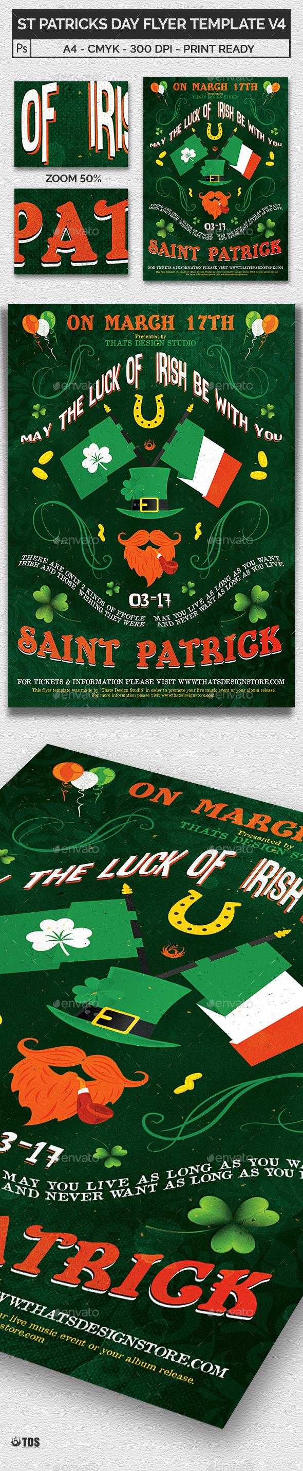 Saint Patricks Day Flyer Template V4 - Holidays Events