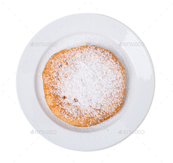 Delicious sweet pie with cottage cheese. - Stock Photo - Images