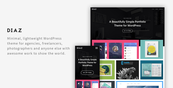Diaz  A Lightweight WordPress Portfolio Theme