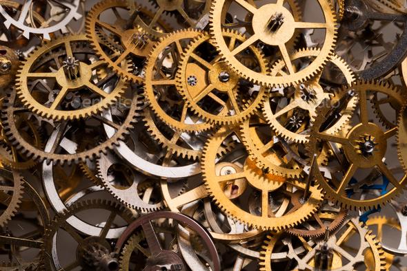 Cogwheels background - Stock Photo - Images