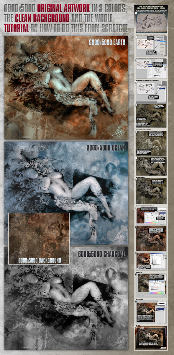 6000x5000 Original Artwork, Background & Tutorial - Miscellaneous Illustrations