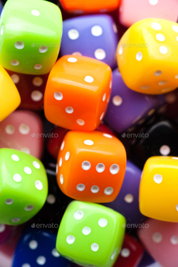 Multicolor dices - Stock Photo - Images