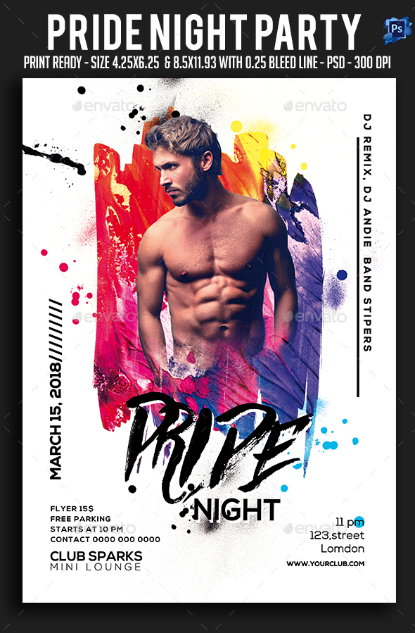 Pride Night Party Flyer - Clubs & Parties Events