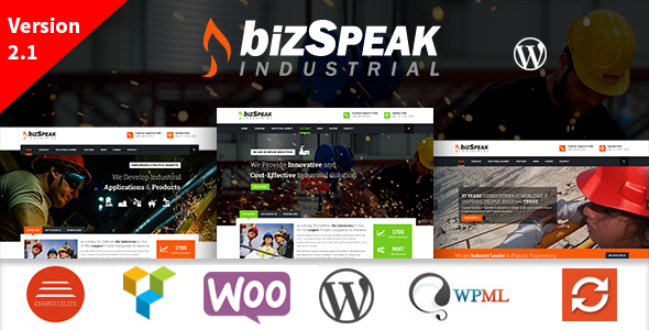 BizSpeak - Industrial WordPress Theme - Business Corporate