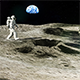 Astronaut on the Moon Returns to His Moon Rover - VideoHive Item for Sale