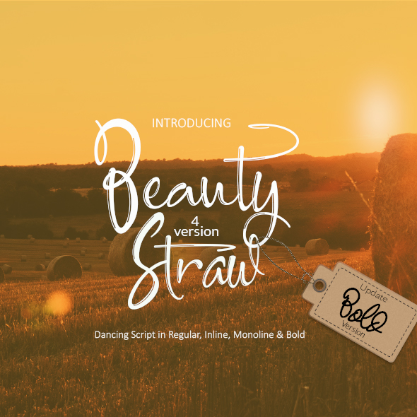 Beauty Straw + Bold Version - Hand-writing Script