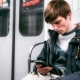 Young Boy Rides the Subway and Used Smartphone - VideoHive Item for Sale