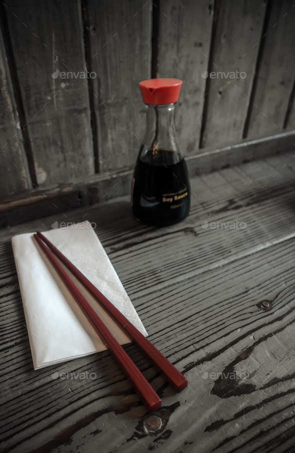 Asian Restaurant With Chopsticks - Stock Photo - Images