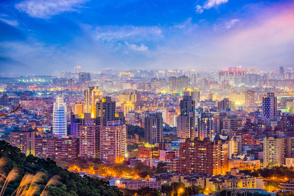 Taoyuan, Taiwan Skyline - Stock Photo - Images