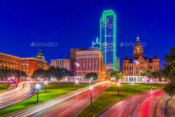 Dealey Plaza Dallas - Stock Photo - Images