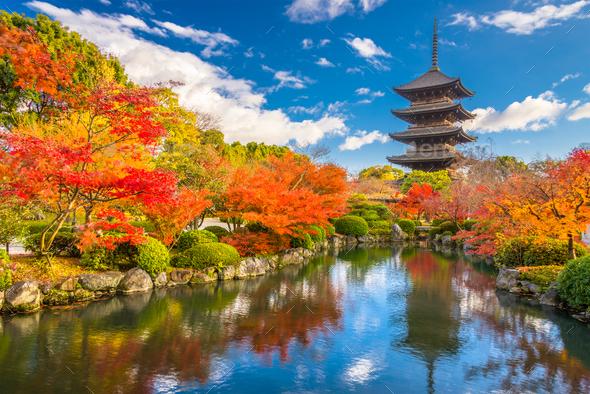 Toji Pagoda Kyoto - Stock Photo - Images