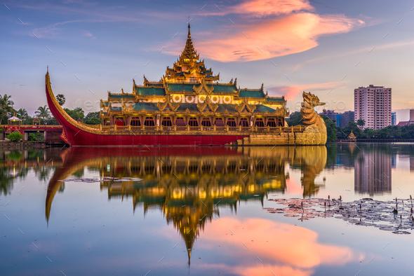 Yangon Myanmar Park - Stock Photo - Images