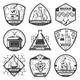 Vintage Monochrome Laboratory Research Labels Set