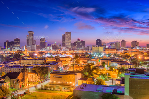 New Orleans, Louisiana Skyline - Stock Photo - Images