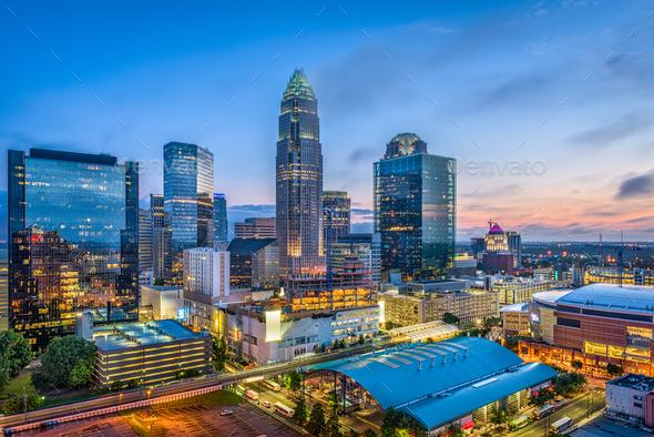 Charlotte, North Carolina, USA - Stock Photo - Images