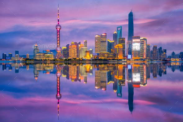 Shanghai China Cityscape - Stock Photo - Images