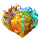Isometric Colorful Game Island Background