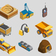 Isometric Mining Elements Set
