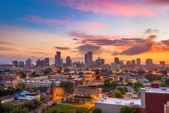 New Orleans Louisiana Skyline - Stock Photo - Images
