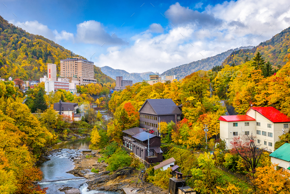 Jozankei, Japan in Autumn - Stock Photo - Images