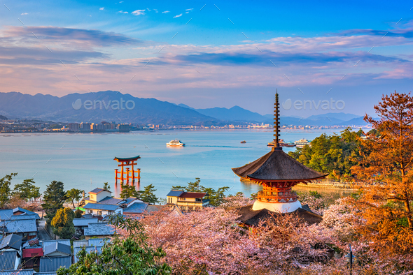 Miyajima, Hiroshima, Japan - Stock Photo - Images