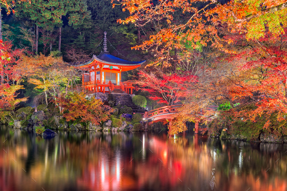 Daigo-ji Temple, Kyoto, Japan. - Stock Photo - Images