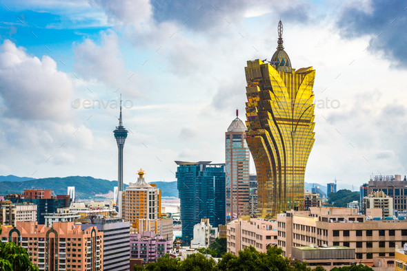 Macau, China Skyline - Stock Photo - Images