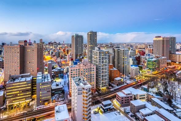 Sapporo, Hokkaido, Japan Skyline - Stock Photo - Images