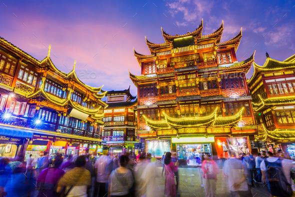 Shanghai China Yuyuan Gardens - Stock Photo - Images